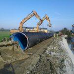 Estendimento e rivestimento canali Tortigliano